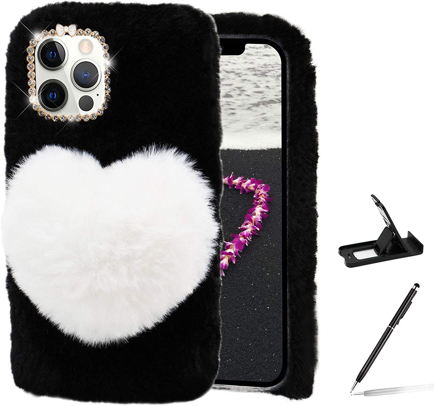 Herzzer Cute Winter Warm Furry San Diego Mall Cover for Galaxy Ranking TOP5 Note Samsung 20