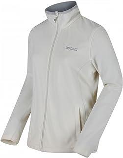 Regatta Women's Clemance II Full Zip Active Hiking Symmetry Fleece, White (Polar Bear/Light Steel), 18 (XL)