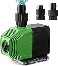 Yorbay CTB-3500 SuperECO vijverpomp, 20 W, 3500 l/h met 10 m lange stroomkabel, tuinpomp, filterpomp voor tuin, vijver, zo...