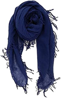 Chan LUU NEW Medieval Blue Beautiful Cashmere & Silk Soft Scarf