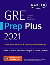 GRE Prep Plus 2021: 6 Practice Tests + Proven Strategies + Online + Video + Mobile