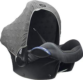 Original Dooky Hoody Solskydd för barnstolar eller barnvagnar (design: Stickad Star Grey, inkl. UV-skydd 40+, åldersgrupp ...
