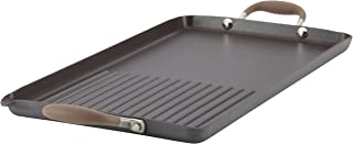 Anolon Advanced Hard Anodized Nonstick Double-Burner Griddle/ Grill Pan with Spout - 10 Inch x 18 Inch, Bronze