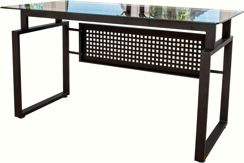 Christopher Las Vegas Mall Knight Max 67% OFF Home Fiske Glass Black Office Computer Desk
