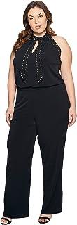 [マイケル マイケルコース] MICHAEL Michael Kors レディース Plus Size Solid Stud Tie Jumpsuit ロンパース Black 3X [並行輸入品]