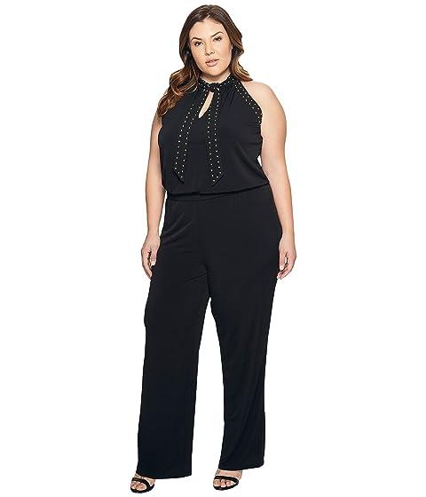 417120e4616 MICHAEL Michael Kors Plus Size Solid Stud Tie Jumpsuit at 6pm