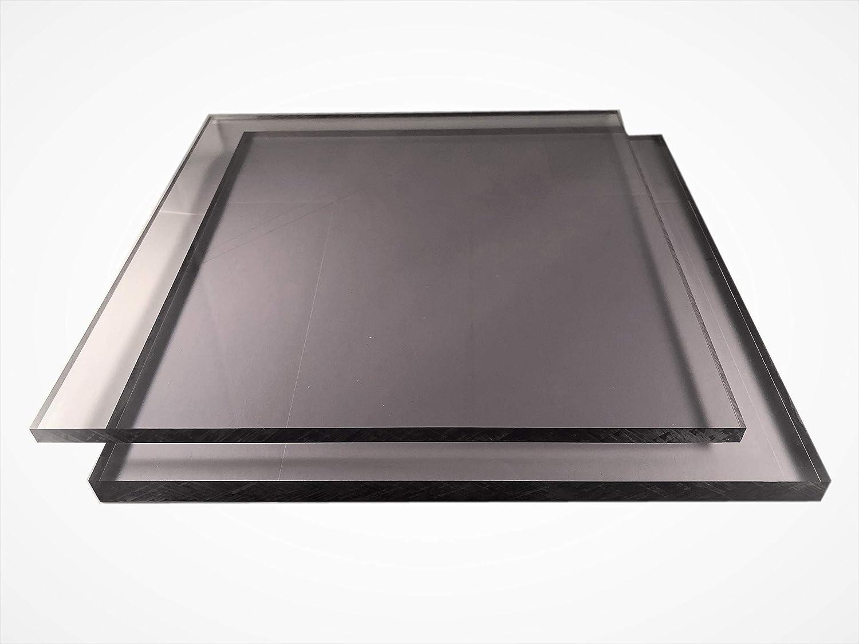 Makrolon Lexan Plaque de 2-15 mm en polycarbonate de carbone d/écoupe pr/écise au millim/ètre pr/ès protection UV gratuite 10 mm, 200 x 200 mm