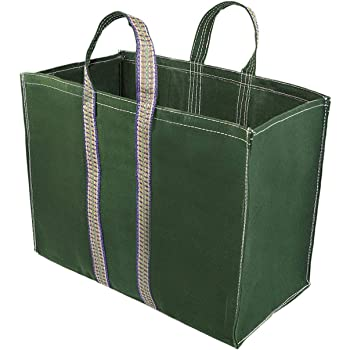 GT GLoptook Large Size Canvas Vegetable Grocery Shopping Bag 20x8x13 inch Color May Vary