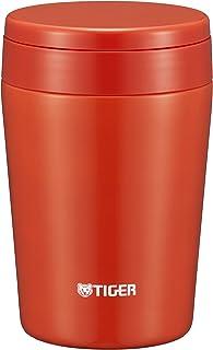 TIGER 虎牌 保温杯 真空保温 汤 饭盒 便当盒 380ml 宽口 圆底 橘红色 MCL-B038-RC