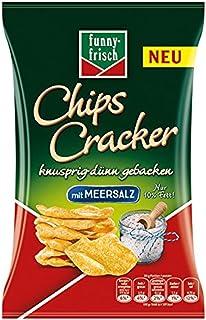 funny-frisch Chips Cracker Meersalz, 12er Pack 12 x 90 g