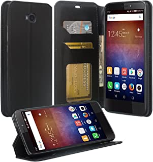 Huawei Ascend XT 2 Case, Huawei Elate 4G LTE Case, Flip [Kickstand] PU Leather Wallet Case Cover with ID &Credit Card Slots for Huawei Ascend XT2 H1711 - (Black)