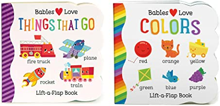2 Pack Chunky Lift-a-Flap Board Books: Colors / Things That Go Lift-a-Flap Books (Babies Love)