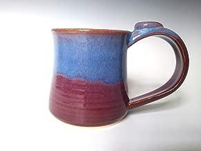Ceramic Mug, Pottery Coffee Tea Cup, Purple Violet with Blue Swirl, Handmade Stoneware 10 Ounce Coffee Mug
