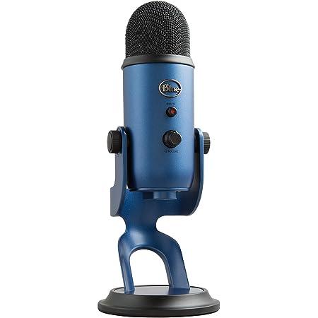 Blue Microphones Yeti Usb Mikrofon Für Aufnahme Und Streaming Auf Pc Und Mac Verstellbares Stativ Plug Und Play Mitternachts Musikinstrumente