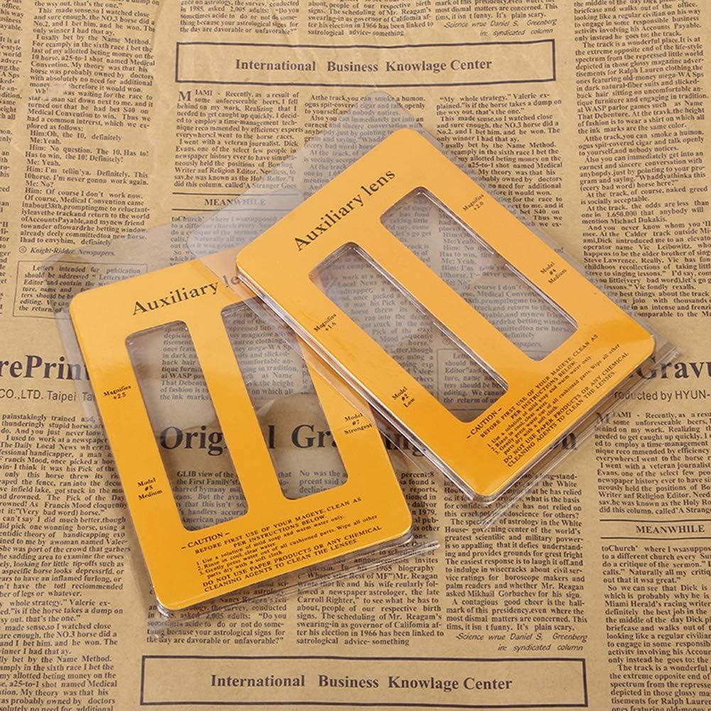 Lupa Lupa Soporte ajustable Gafas de mediana edad Lente Manos libres Herramienta para el hogar Diadema ABS Hoja de pl/ástico Cabeza de lectura Usar Negro