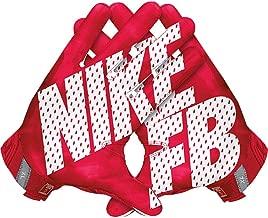 Men's Nike Vapor Jet 3.0 Football Gloves University Red/Gym Red/Black/White Size Large