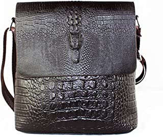 Men's Alligator Pattern Flap Shoulder Bags For Men Messenger Bag Business Crossbody Bag Crocodile bolsa