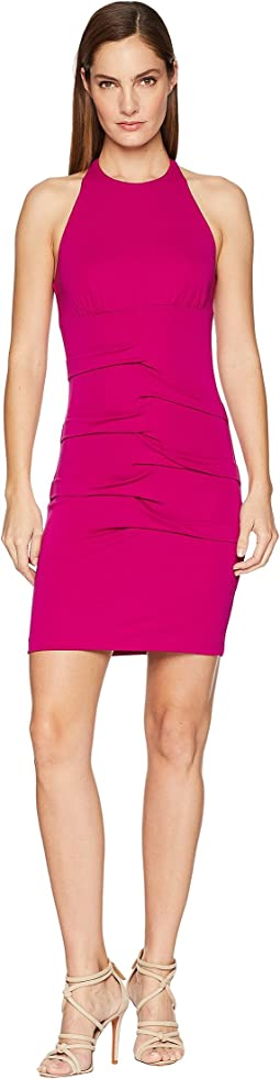 Halter Tidal Pleat Dress