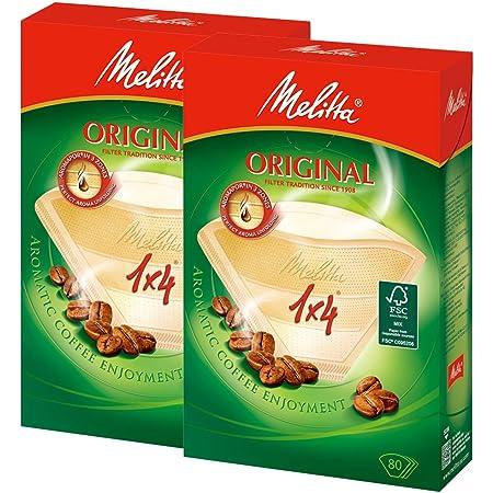 メリタ Melitta コーヒー フィルター ペーパー 4~8杯用 1×4 用 80枚入り ×2個 セット オリジナルシリーズ ブラウン
