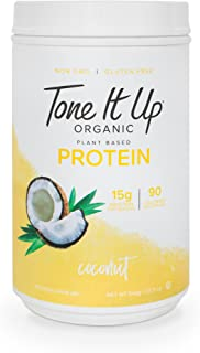 Tone It Up Organic Vegan Coconut Protein Powder for Women   100% Pea Protein Sugar Free Gluten Free   15g of Protein   Supports Weight Loss and Lean Muscle   Kosher Non GMO   1.54lbs
