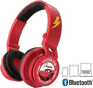 Cars 3 Bluetooth Headphones Disney Pixar Movie Wireless Kid Friendly Sound with Lightning McQueen Graphics