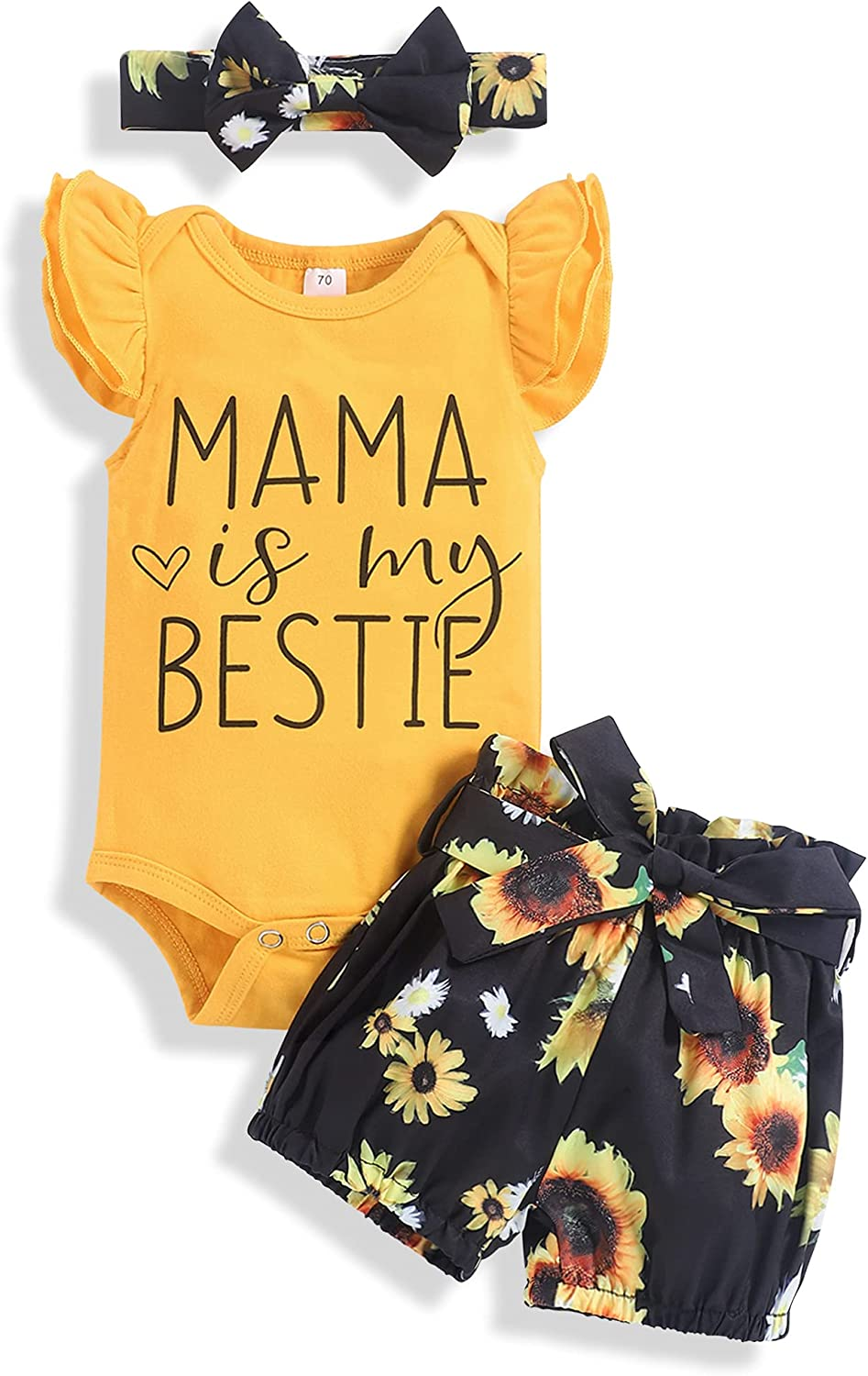 Newborn Baby Girl Clothes Outfits Infant Romper Ruffle Tops Floral Shorts Set Summer Clothes for Baby Girl
