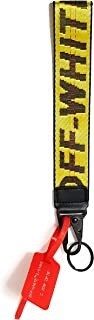 Krispy Soles Off-White Industrial Belt Strap Lanyard Short 10in Long x 1.5in Wide: Office Badge: ID Holder: Keychain Canvas Nylon Strap Virgil
