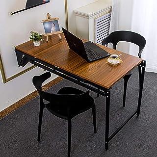 QJJML Table De Salle à Manger Murale, Table Pliante Multifonctions, éTagèRe Multicouche DéFormable, éTagèRes RéTractables,F