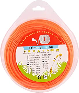 MEMX String Trimmer Line.102-Inch-by-240-ft 1-Pound Grass Trimmer Line Donut,Round-Shaped Nylon Weed Eater String,Orange.