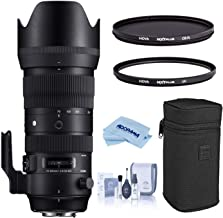 $1259 » Sigma 70-200mm F2.8 DG OS HSM Sports Telephoto Zoom Lens for Canon EF/EF-S Mount, EOS DSLR Cameras, Bundle with Hoya NXT Plus 10-Layer HMC Multi-Coated Circular Polarizer + UV Filter, Cleaning Kit