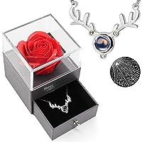 Deals on Best Mom Ever Preserved Rose Drawer w/I Love You Necklace Set