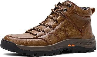 gracosy Chaussure de Ville Hiver Hommes, Boots de Neige avec Fourrure en Laine Moccassins en Cuir PU Bottines Bottes de Ra...