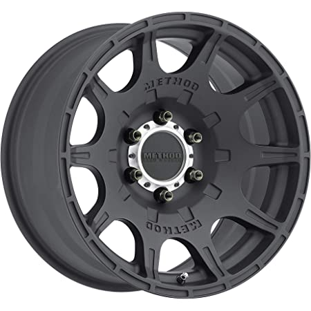 Method Race Wheels Roost Matte Black Wheel with Machined Center Ring 0 mm offset 17x8.5//6x5.5