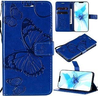 Capa XYX Galaxy S6, capa carteira para Galaxy S6, [borboleta grande] capa protetora flip carteira de couro PU para Samsung...