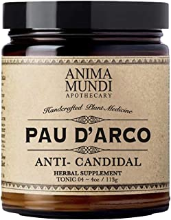 Anima Mundi PAU D' Arco Superbark Powder - Pure Rainforest Superfood Herbal Powder from Peru - Add to Tea, Soup or Broth (...
