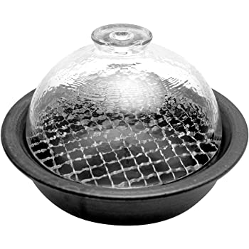 アデリア 土鍋 万古焼 燻製ができる鍋 直径22.3×高7.2cm グラスドームクッカー レシピ付き 電子レンジ・直火対応 F71715