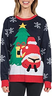 Women's Winter Whale Tail Sweater - Funny Santa Ugly Christmas Sweater