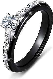 black ceramic engagement rings