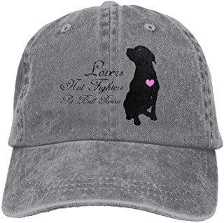 Lovers Not Fighters Pit Bull Rescue Denim Baseball Caps