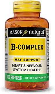 Sponsored Ad - Mason Natural, Vitamin B Complex Multivitamin, Softgel, 100-Count Bottles (Pack of 3), Dietary Supplement S...
