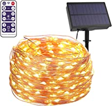 LED Solar String Lights Outdoor 30m 300 LED Solar Powered String Fairy Tree Light with Remote Control, 8 Lighting Modes (W...