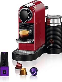 Krups Nespresso Citiz & Milk Machine à Café Automatique Espresso à dosette Pot à Lait Rouge YY4116FD