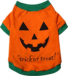 Aslaylme Pet Halloween Puppy Elf Costume T-Shirt for Small Dogs Cats
