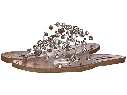 STEVE MADDEN Regent Embellished Slide Sandal in Clear