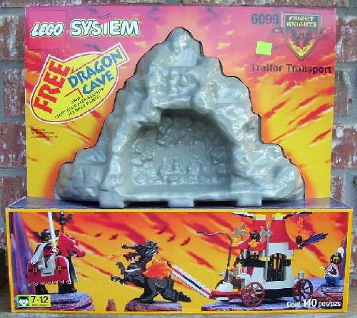 LEGO Fright Knights Traitor Transport with Dragon Cave, 140Pieces, 6099