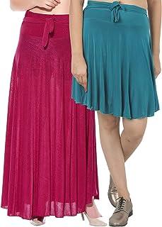 Dashy Club Dam kombination med 2 st långa och små enfärgade crepe-utsvängda kjolar
