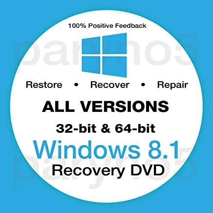 Compatible With Windows 8.1 Reinstall Recovery Repair Reset Boot Fix Install Disk 64 & 32 bit Systems - All Brands (Dell, HP, etc) w/ Printed Instructions & Support
