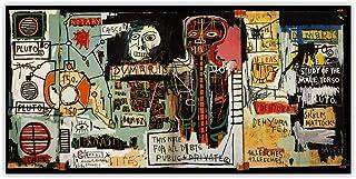 VCFHU Jean Michel Basquiat 《Notario》 Graffiti Art Lienzo Pintura Al óLeo Obra De Arte PóSter Impresiones Cuadros De Arte D...