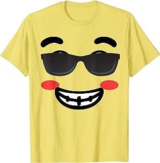 Halloween Emojis Costume Emoticon Smile Sunglasses T-Shirt