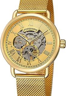 Lixada 276 Business Men Mechanical Watch Fashion Casual Mesh Stainless Steel Strap 3ATM Waterproof Self-Winding Male Wristwatch